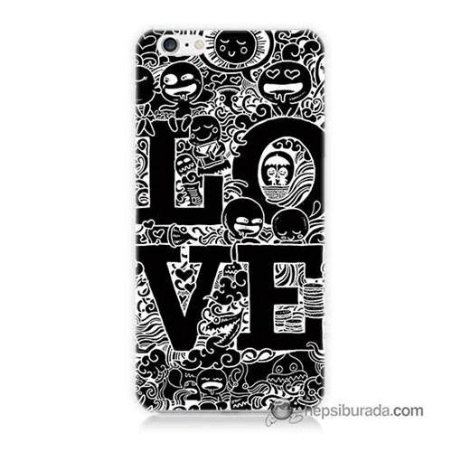 Teknomeg İphone 6 Kapak Kılıf Love Baskılı Silikon