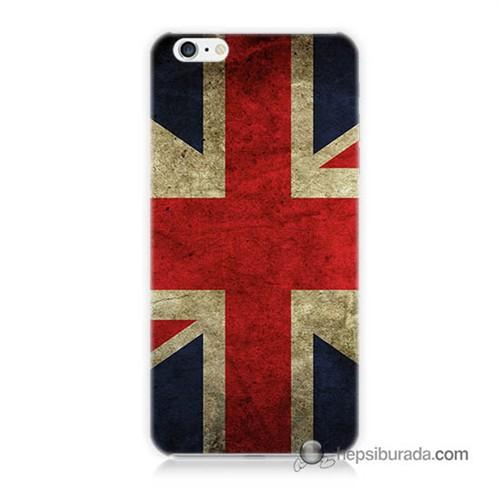 Teknomeg İphone 6 Kapak Kılıf İngiltere Bayrağı Baskılı Silikon