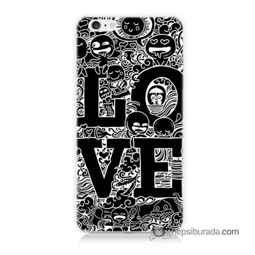 Teknomeg İphone 6S Kapak Kılıf Love Baskılı Silikon