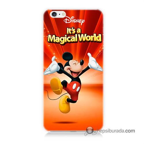 Teknomeg İphone 6S Kapak Kılıf Mickey Baskılı Silikon