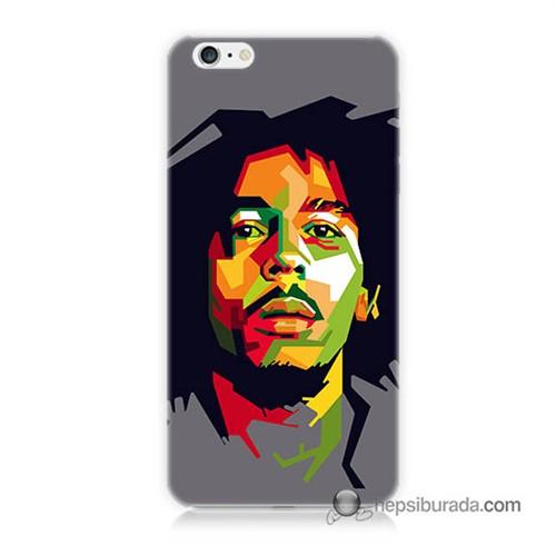 Teknomeg İphone 6S Kapak Kılıf Bob Marley Baskılı Silikon