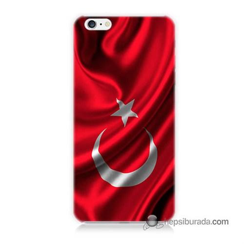 Teknomeg İphone 6S Kapak Kılıf Türkiye Bayrağı Baskılı Silikon