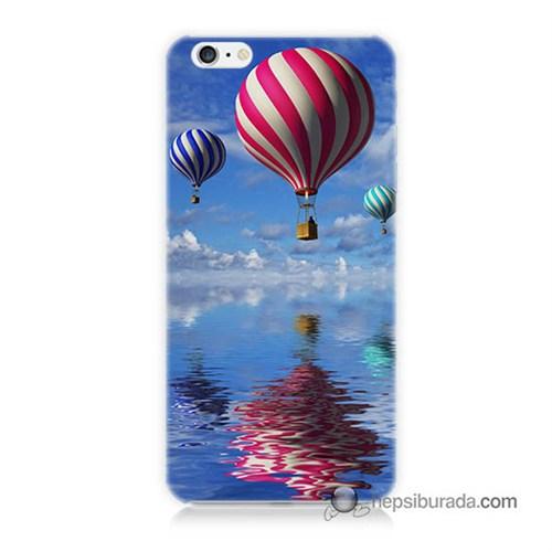 Teknomeg İphone 6S Kapak Kılıf Renkli Balonlar Baskılı Silikon