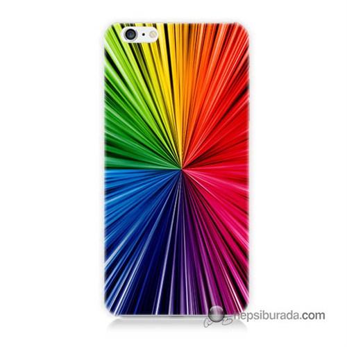 Teknomeg İphone 6S Kapak Kılıf Renkler Baskılı Silikon