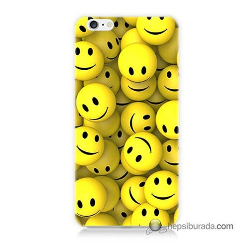 Teknomeg İphone 6 Plus Kapak Kılıf Smile Baskılı Silikon