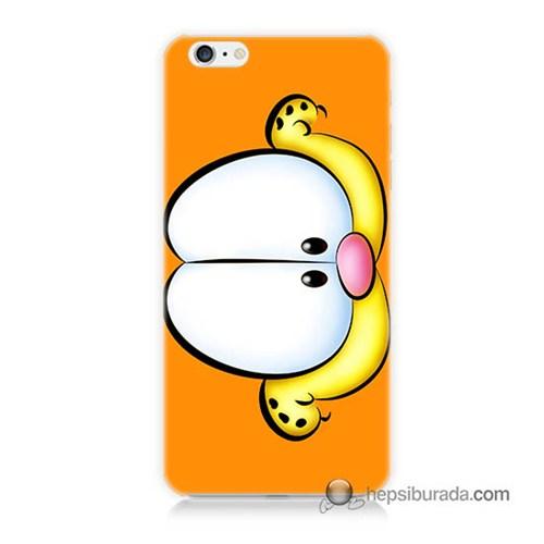 Teknomeg İphone 6 Plus Kapak Kılıf Garfield Baskılı Silikon