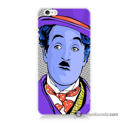 Teknomeg İphone 6 Plus Kapak Kılıf Charlie Chaplin Baskılı Silikon