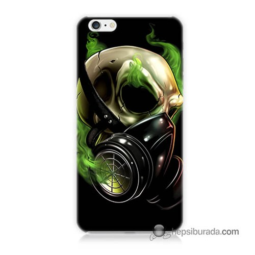 Teknomeg İphone 6 Plus Kapak Kılıf Ölüm Maskesi Baskılı Silikon