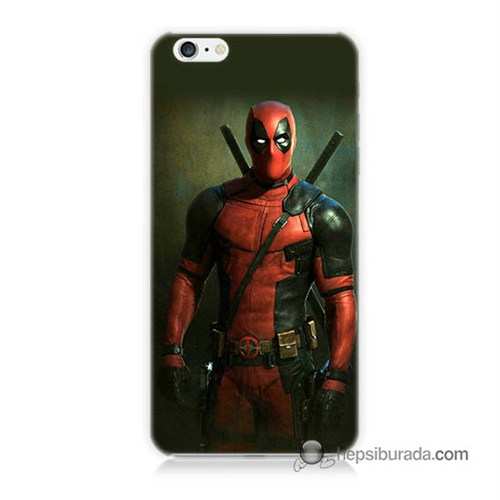 Teknomeg İphone 6 Plus Kapak Kılıf Deadpool Baskılı Silikon