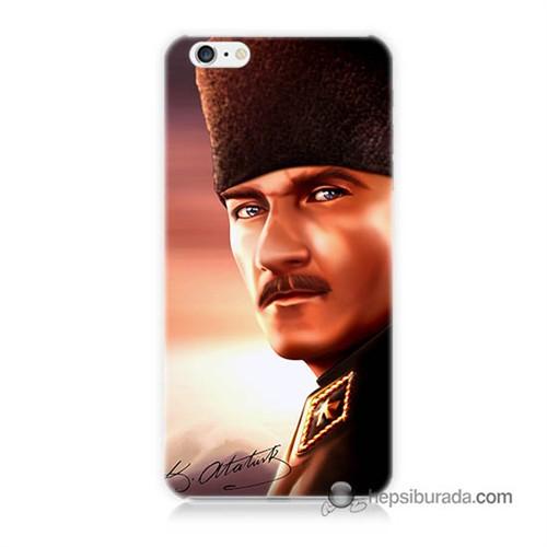 Teknomeg İphone 6 Plus Kapak Kılıf Mustafa Kemal Baskılı Silikon