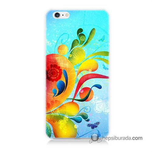 Teknomeg İphone 6 Plus Kapak Kılıf Renkli Desen Baskılı Silikon