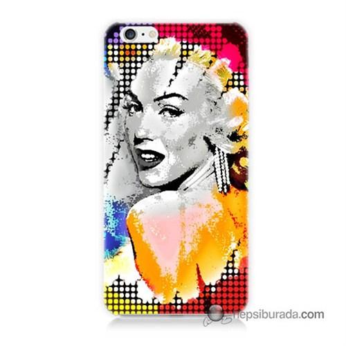 Teknomeg İphone 6 Plus Kapak Kılıf Marilyn Monroe Baskılı Silikon
