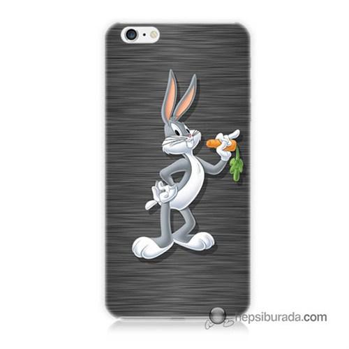 Teknomeg İphone 6S Plus Kapak Kılıf Bugs Bunny Baskılı Silikon