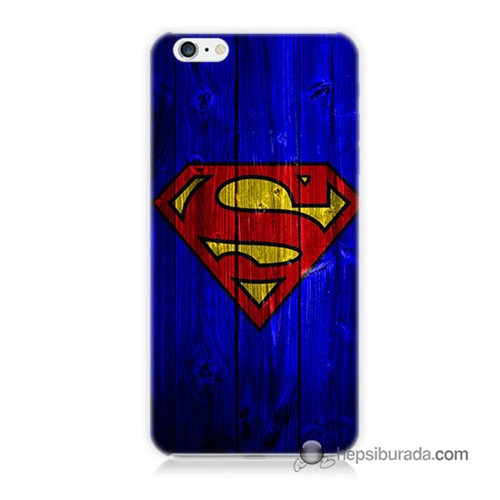 Teknomeg İphone 6S Plus Kapak Kılıf Superman Baskılı Silikon