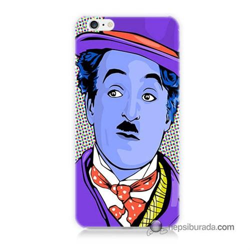 Teknomeg İphone 6S Plus Kapak Kılıf Charlie Chaplin Baskılı Silikon