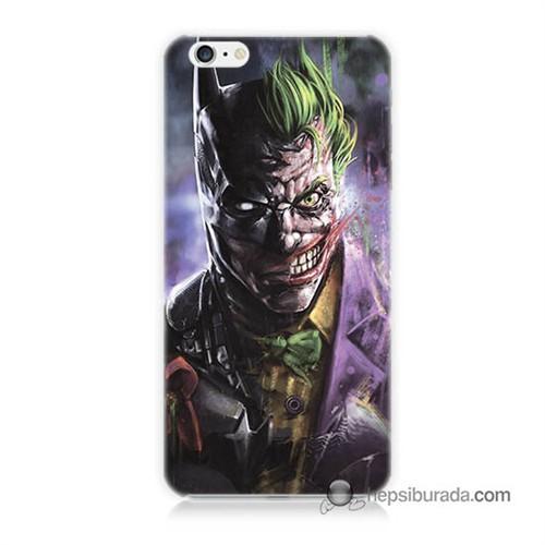 Teknomeg İphone 6S Plus Kapak Kılıf Joker Vs Batman Baskılı Silikon