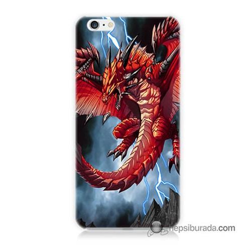 Teknomeg İphone 6S Plus Kapak Kılıf Dragon Baskılı Silikon