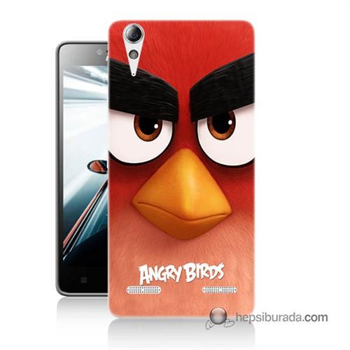 Teknomeg Lenovo A6000 Kapak Kılıf Angry Birds Baskılı Silikon