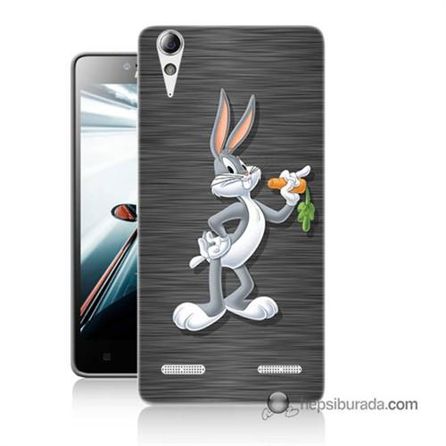 Teknomeg Lenovo A6000 Kapak Kılıf Bugs Bunny Baskılı Silikon