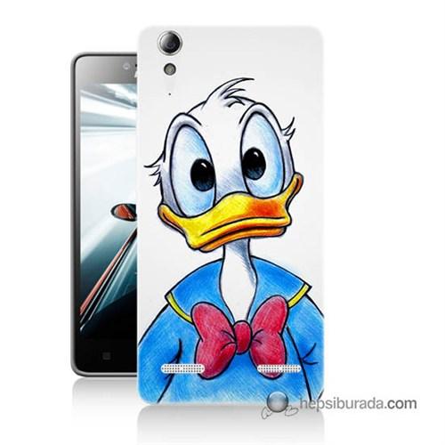 Teknomeg Lenovo A6000 Kapak Kılıf Donald Duck Baskılı Silikon