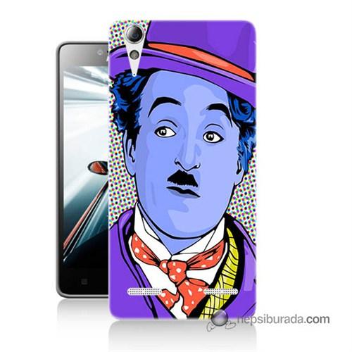 Teknomeg Lenovo A6000 Kapak Kılıf Charlie Chaplin Baskılı Silikon