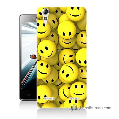 Teknomeg Lenovo A6010 Kapak Kılıf Smile Baskılı Silikon