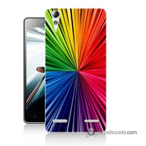 Teknomeg Lenovo A6010 Kapak Kılıf Renkler Baskılı Silikon