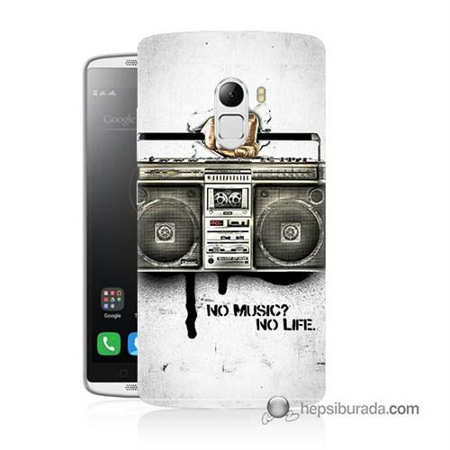 Teknomeg Lenovo A7010 Kapak Kılıf Müzik Hayattır Baskılı Silikon