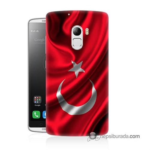 Teknomeg Lenovo A7010 Kapak Kılıf Türkiye Bayrağı Baskılı Silikon