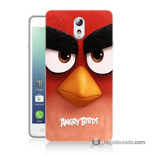 Teknomeg Lenovo Vibe P1m Kapak Kılıf Angry Birds Baskılı Silikon