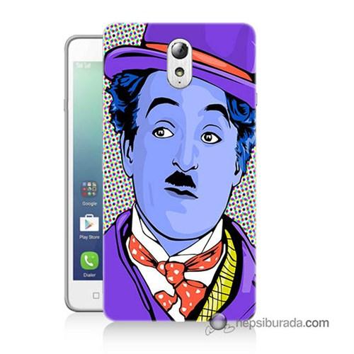 Teknomeg Lenovo Vibe P1m Kapak Kılıf Charlie Chaplin Baskılı Silikon