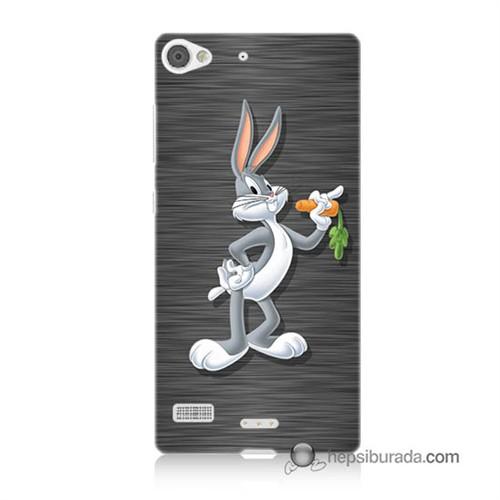 Teknomeg Lenovo Vibe X2 Kapak Kılıf Bugs Bunny Baskılı Silikon