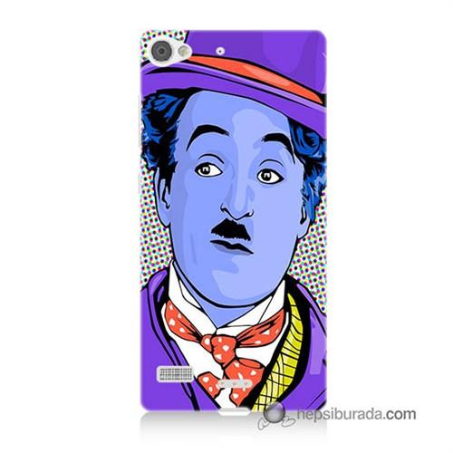 Teknomeg Lenovo Vibe X2 Kapak Kılıf Charlie Chaplin Baskılı Silikon