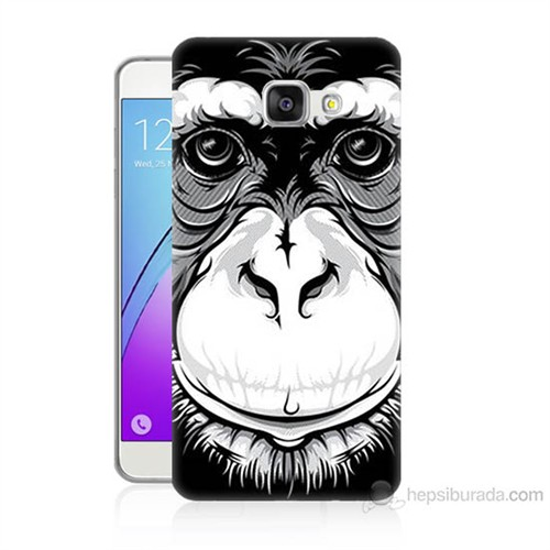 Teknomeg Samsung Galaxy A3 2016 Kılıf Kapak Maymun Baskılı Silikon