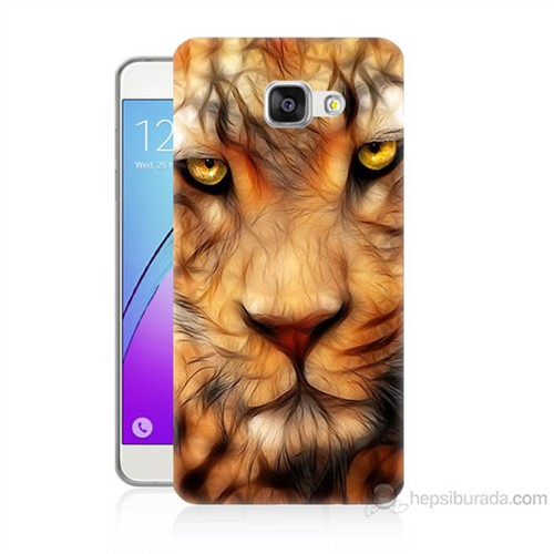Teknomeg Samsung Galaxy A3 2016 Kapak Kılıf Aslan Baskılı Silikon