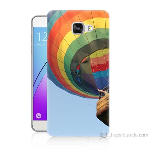 Teknomeg Samsung Galaxy A3 2016 Kapak Kılıf Uçan Balon Baskılı Silikon