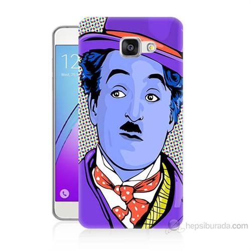 Teknomeg Samsung Galaxy A3 2016 Kapak Kılıf Charlie Chaplin Baskılı Silikon