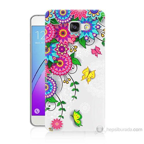 Teknomeg Samsung Galaxy A3 2016 Kapak Kılıf Çiçek Ve Kelebek Baskılı Silikon