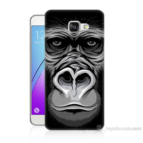 Teknomeg Samsung Galaxy A3 2016 Kapak Kılıf Goril Baskılı Silikon