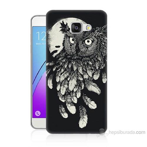 Teknomeg Samsung Galaxy A3 2016 Kapak Kılıf Gece Kuşu Baskılı Silikon