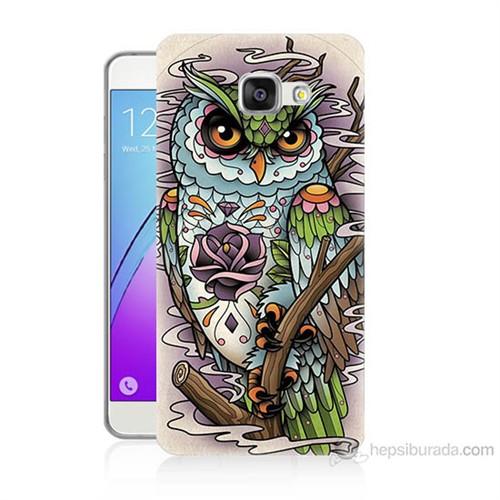 Teknomeg Samsung Galaxy A3 2016 Kapak Kılıf Çiçekli Baykuş Baskılı Silikon
