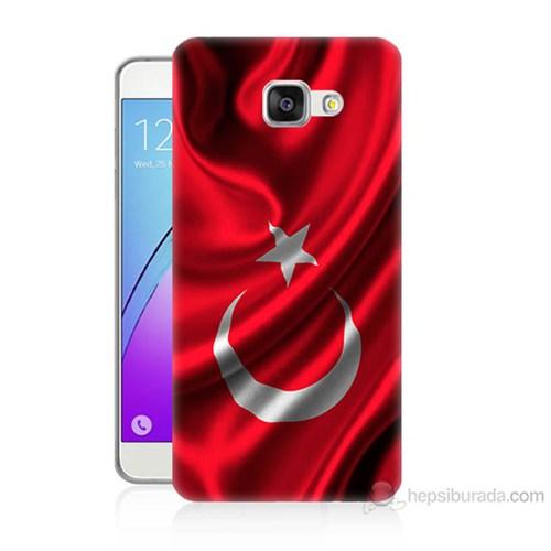 Teknomeg Samsung Galaxy A3 2016 Kapak Kılıf Türkiye Bayrağı Baskılı Silikon