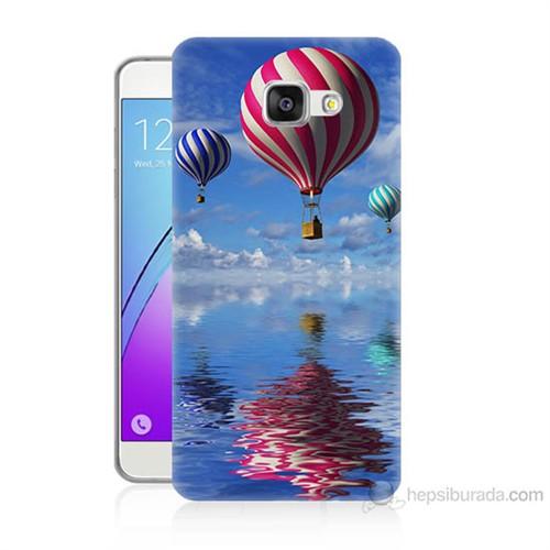Teknomeg Samsung Galaxy A3 2016 Kapak Kılıf Renkli Balonlar Baskılı Silikon