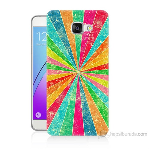 Teknomeg Samsung Galaxy A3 2016 Kapak Kılıf Renk Efekti Baskılı Silikon