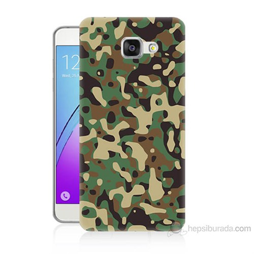 Teknomeg Samsung Galaxy A3 2016 Kapak Kılıf Askeri Kamuflaj Baskılı Silikon