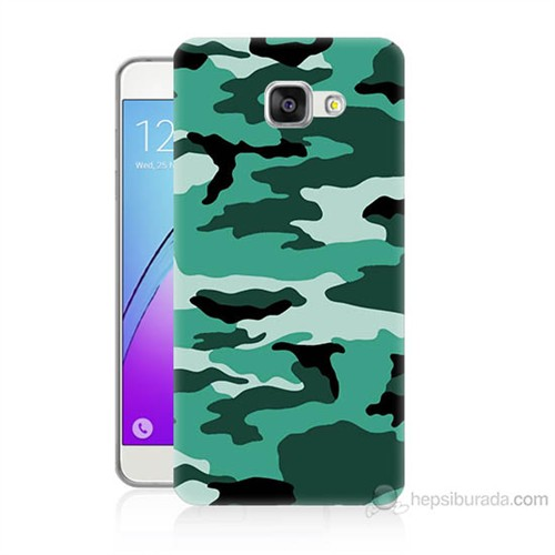 Teknomeg Samsung Galaxy A3 2016 Kapak Kılıf Kamufulaj Baskılı Silikon