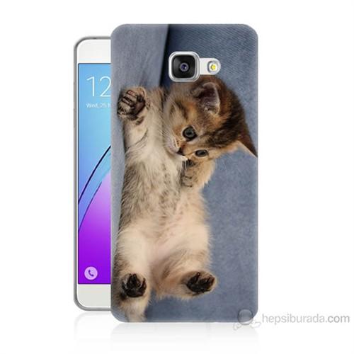 Teknomeg Samsung Galaxy A3 2016 Kapak Kılıf Kedicik Baskılı Silikon