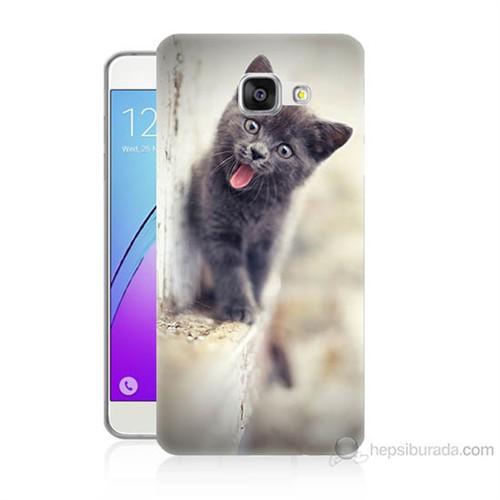 Teknomeg Samsung Galaxy A5 2016 Kapak Kılıf Haylaz Kedi Baskılı Silikon