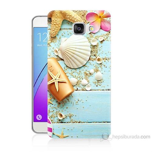 Teknomeg Samsung Galaxy A5 2016 Kapak Kılıf Deniz Kabuğu Baskılı Silikon