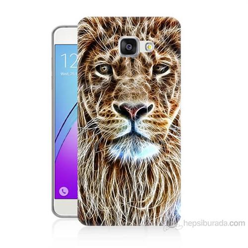 Teknomeg Samsung Galaxy A5 2016 Kapak Kılıf Aslan Yüzü Baskılı Silikon